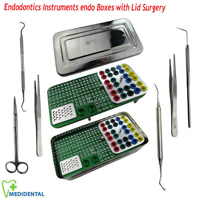 Endodontics Endo Box Dental Implant for Surgical Surgery instruments kit of 7pcs
