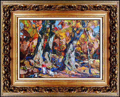 John Costigan Original Oil Painting on Canvas Board Signed Landscape Framed Art