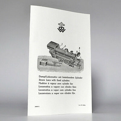 BING Gebrauchsanweisung (instruction) Dampf-Lokomotive (steam loco) , Reprint