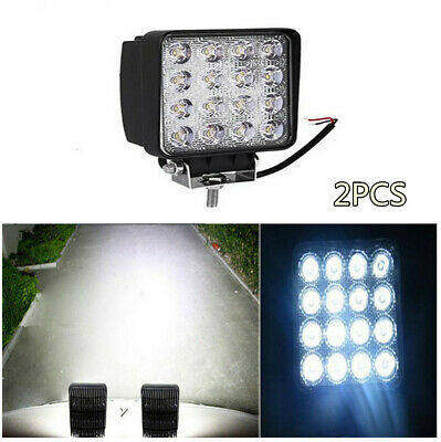 4'' 48W Flood Led Work Light Bar 4500LM  IP67 For Jeep Boat Truck 4WD 4X4 ATV