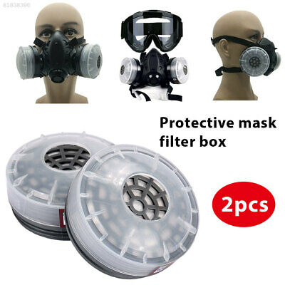2027 2pcs Filters Boxes Mask Replacement Cartridges Facility Industrial Safety