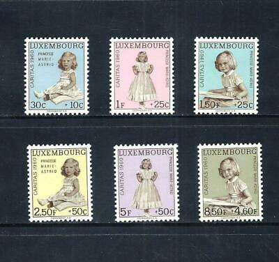 LUXEMBOURG _ 1960 'PRINCESS MARIE-ASTRID' SET of 6 _ mlh ____(570)