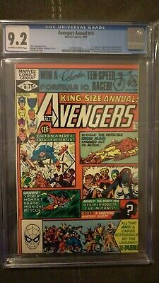 1981 Avengers Annual #10 CGC 9.2  1st Appearance of Rogue & Madelyn Prior NM