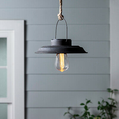 Outdoor Garden Porch Solar Hanging Pendant Light Warm White LED by Lights4fun