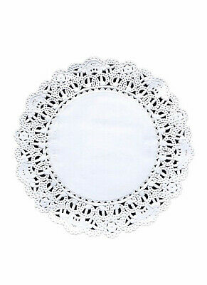 100 ct. 6 inch White Round Paper Lace Table Disposable Doilies