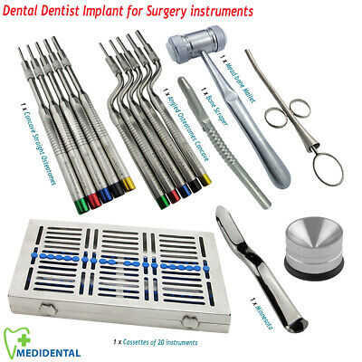 Sinus Lift Osteotomes Kit Str & Offset Concave Surgical Implants Instruments Set