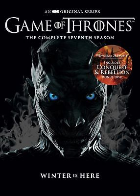 Game of Thrones Season 7 The Complete Seventh 7th Series + Conquest & Rebel
