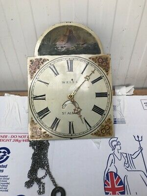 Vintage Grandfather Clock Wells St Albans Untested Spares Or Repairs