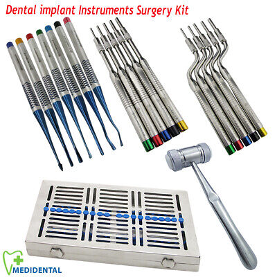 Bone Cutting Osteotome Sinus Lift Dental Surgery kit PDL Luxating Elevators 7pcs