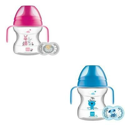 MAM Learn To Drink Cup With Handles 190ml - Pink or Blue