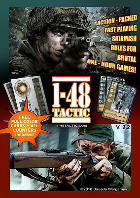 1-48TACTIC core rule book WW2 miniature wargame easy BRUTAL fast paced cinematic