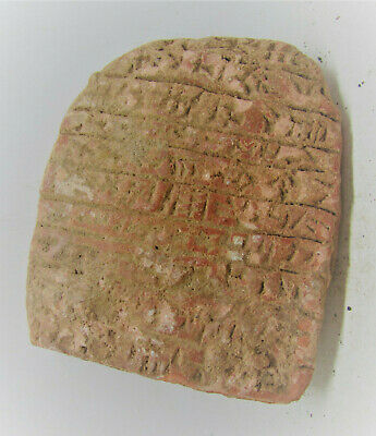 Very Rare Ancient Near Eastern Clay Tablet Early Form Of Writing 2000Bc.