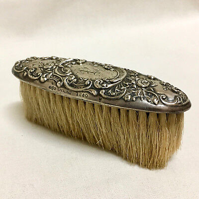 Gorham Sterling Silver Nail Brush Dresden Rose Art Nouveau American1897 Antique