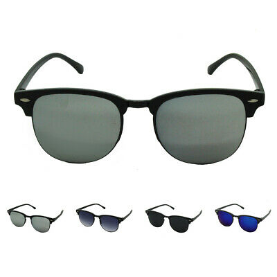 Vintage 1950's Retro Classic Black Half Rimmed Sunglasses Mens Womens Ladies UK