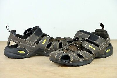 cb707227e88a TEVA Forebay Mens Size 9 Brown Outdoor Sandals Shoes Fishing Hiking ShocPad