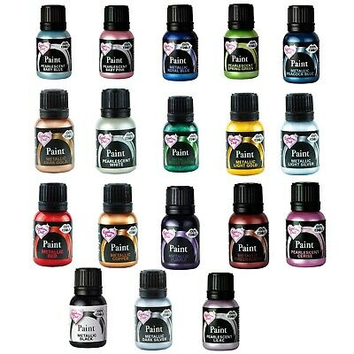 Rainbow Dust Edible Metallic Food Paint - Gold, Silver 25ml