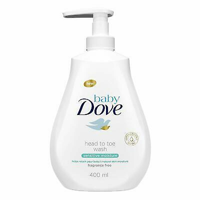 Baby Dove Sensitive Moisture Fragrance Free Head to Toe Wash 400 ml