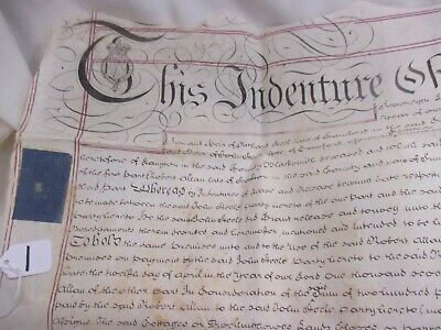 1779 George III Land Indenture Vellum Between I Steele & F Reed poss Darlington