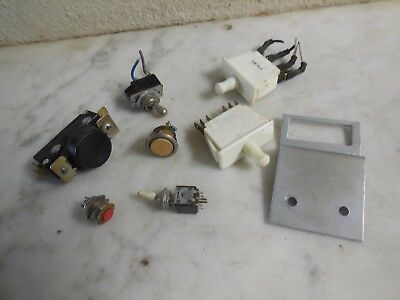 Vtg Original Arcade Machine Panel Button Back Door Switch Lot