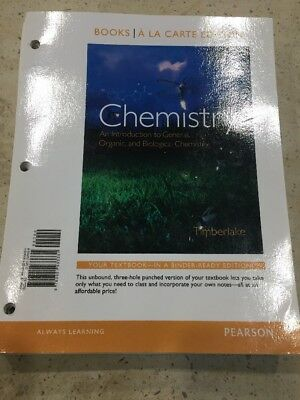 Chemistry Intro To General, Organic, And Biological. Timberlake. 12th Edition.