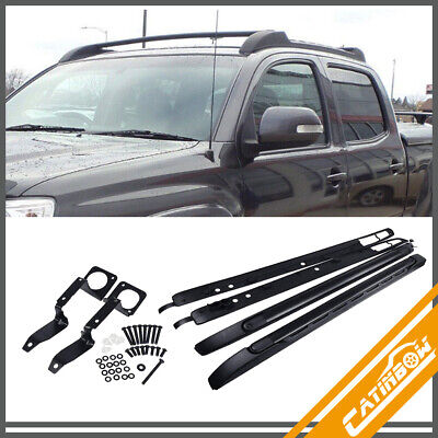 New Aluminum Top Roof Rack Luggage Cross Bar Side Rails For 05-18 Toyota Tacoma