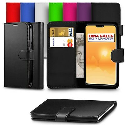 For Nokia 3.1 Premium Leather Wallet Case Cover With Screen Protector