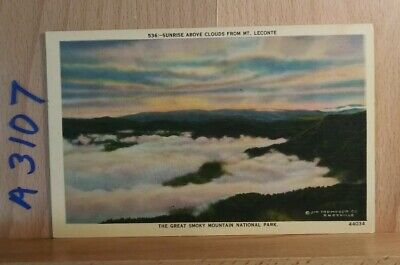 Linen post card, Scene in the Great Smoky Mountains National Park