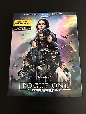 Rogue One: A Star Wars Story (Blu-ray/DVD, 2017) Includes Slipcover and Digital!