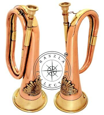 "12"" Brass & Copper Bugle Australian Military Forces Commonwealth With Rising Sun"