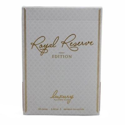 Ellusionist Royal Reserve Playing Cards WHITE GOLD Rare Limited not Bicycle Deck