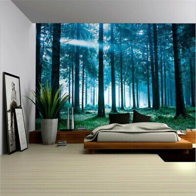 Forest Tapestry Wall Hanging Beach Mat Blanket Picnic Blanket Tablecloth
