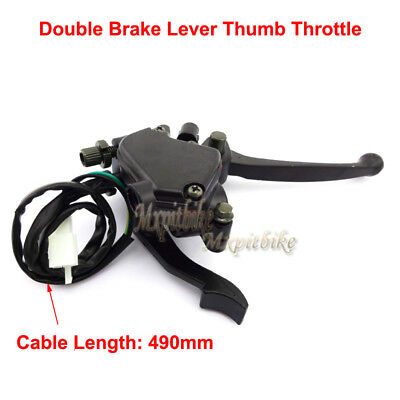 Double Brake Lever Thumb Throttle For 50cc 70cc 90cc 110cc 125cc ATV Taotao Sunl