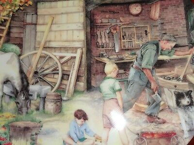 Royal Doulton Collectors Plate THE WHEELWRIGHT From Series OLD COUNTRY CRAFTS