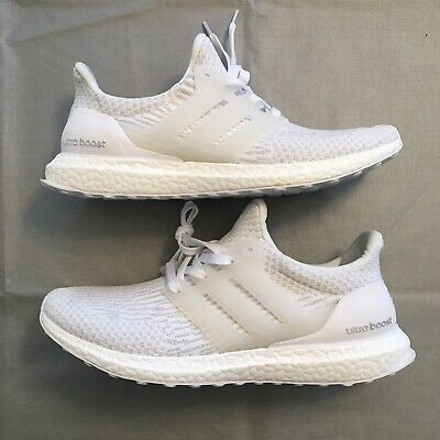 b03e268fcd963 MEN S ADIDAS ULTRA Boost Triple White 3.0 Size 11 Ultraboost ...