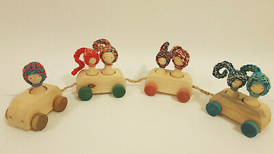 Handmade Wooden Natural Train Toy for Kids Toddlers, Pojga Collection