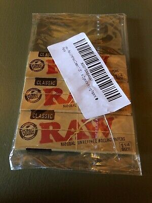 3 Packs Classic Unrefined  Raw Rolling Papers 1 1/4 Size 50 Leaves per pack