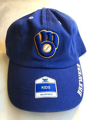 cheap for discount ecd23 db573 New Milwaukee Brewers One Size Fits All YOUTH Baseball Hat
