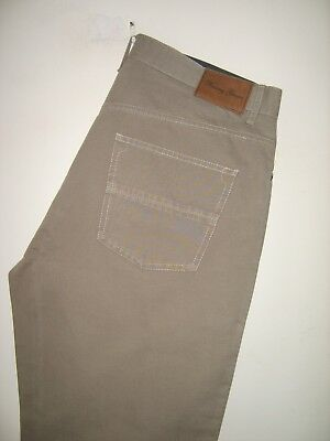 """Mens """"racing Green"""" Taupe Reg Fit Zip Fly 100% Cotton Jean Size 34R"""