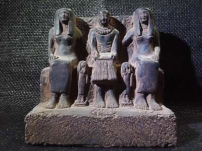 EGYPTIAN ANTIQUE ANTIQUITIES Priest Ptahmai Family Sculpture 1303-1213 BC