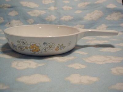 "Corning/corelle=White Daisy/floral Bouquet 6 1/2"" Fry Pan"