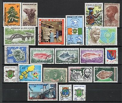 Ivory coast very nice mixed era collection,stamps as per scan(6234)