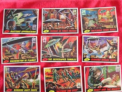 1994 Topps Mars Attacks 1st Day Series, 36 of 55 Card Set, With the Foil Logo