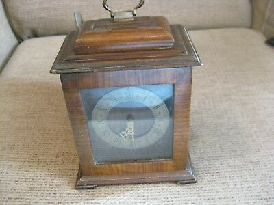 mohogany vintage mantel clock 8 day by rotherhams england
