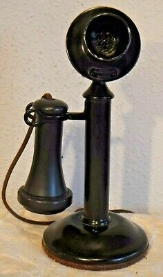Western Electric 40 AL Working Non Dialer Antique Black Candlestick Telephone