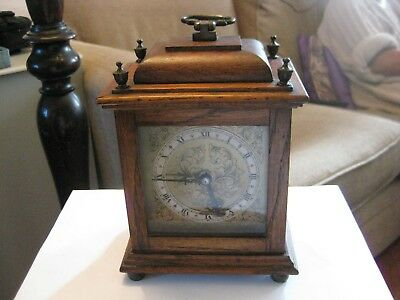 oak vintage mantel clock, smiths