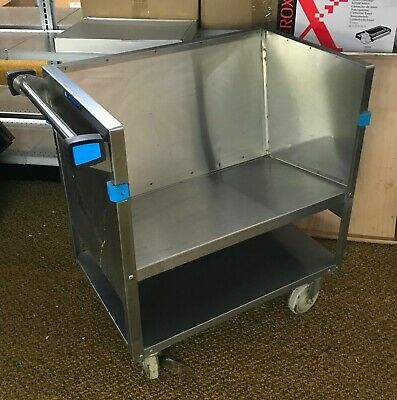 "Restaurant Cart Lakeside MDL 405 (27"" x 18) Stainless-Store N' Carry Dish Truck"