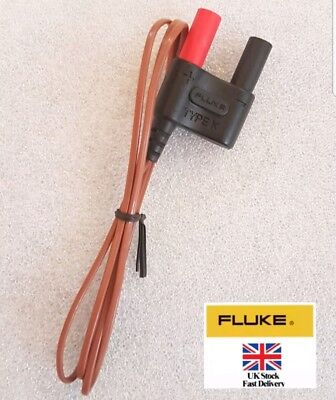 Genuine Fluke 80BK-A Integrated Temperature Probe for Digital Multimeter. New