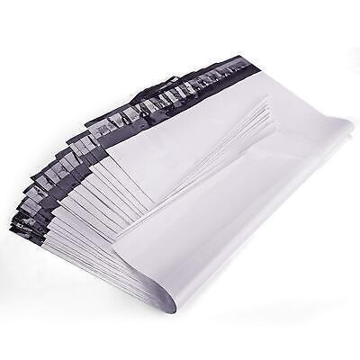 100 10x13 Poly Mailers Plastic White/Gray Shipping Mailing Envelopes Bag 2.5 mil