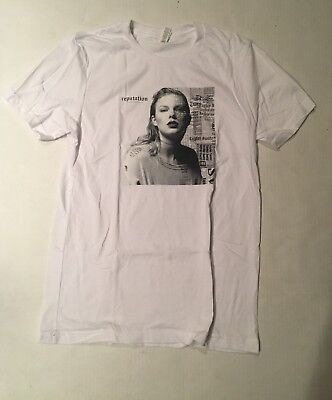 6dc7c7878 TAYLOR SWIFT REPUTATION White Short Sleeve Size XL Adult T Shirt Top ...