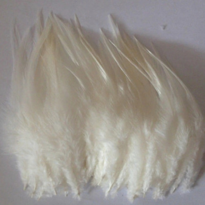 BULK 50pcs Cream Beige Rooster Feathers 7-11cm DIY Craft Millinery Dream Catcher